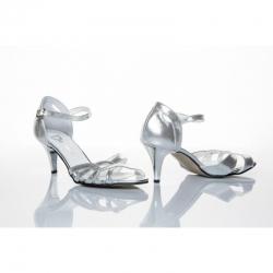 Dámské společenské boty Ina stříbrná