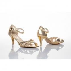 Dámské společenské boty Ina zlatá