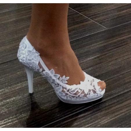 Svatební boty Sandra bílá