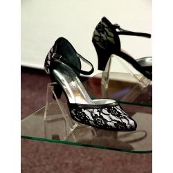 Dámské společenské boty Ela stříbrná