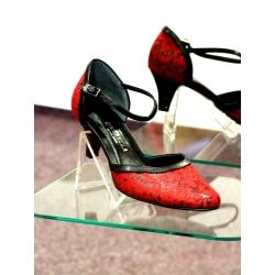 Dámské společenské boty Ela červená