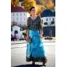 Dlouhé modré šaty VERSAY