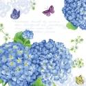 Svatební ubrousky - modrá hortenzie