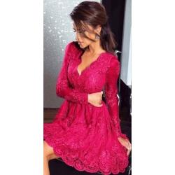 Růžové šaty Eveline