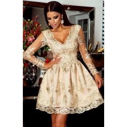 Krémové šaty Eveline