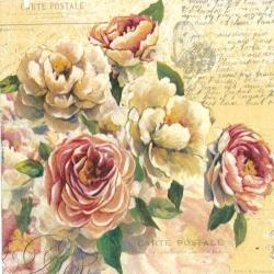 Svatební ubrousky - Vintage růže