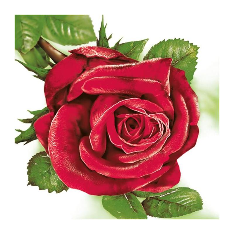 Svatební ubrousky - červená růže