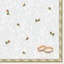 Svatební ubrousky - Snubní prsteny