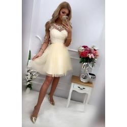 Broskvové šaty Ania