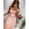 Dlouhé růžové šaty AGA