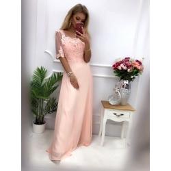 Dlouhé růžové šaty BELINDA
