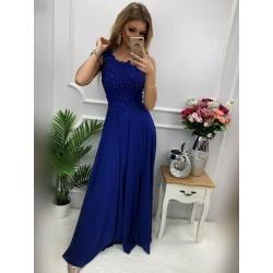 Dlouhé královsky modré šaty JULIA