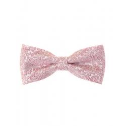 Růžový pánský motýlek s vzorem + kapesníček