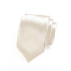 Smetanová pánská kravata ze saténu