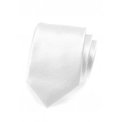 Bílá pánská kravata ze saténu