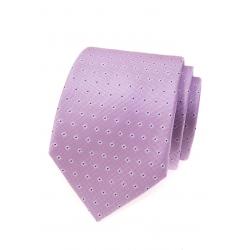 Fialová pánská kravata s jemným vzorem