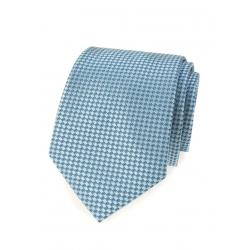 Modrá pánská kravata s jemným vzorem