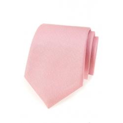 Růžová pánská kravata s jemným vzorem