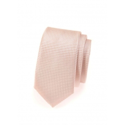 Broskvová pánská kravata s jemným vzorem