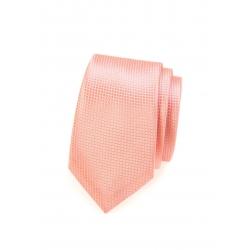 Lososová pánská kravata s jemným vzorem