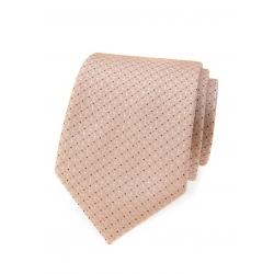 Pudrová pánská kravata s jemným vzorem