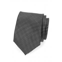 Stříbrná pánská kravata s jemným vzorem