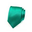 Zelená pánská kravata ze saténu