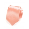 Lososová pánská kravata ze saténu