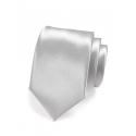 Stříbrná pánská kravata ze saténu