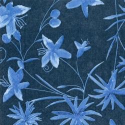 Svatební ubrousky -  modré malované květy