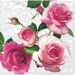 Svatební ubrousky - romantika a růžové růže