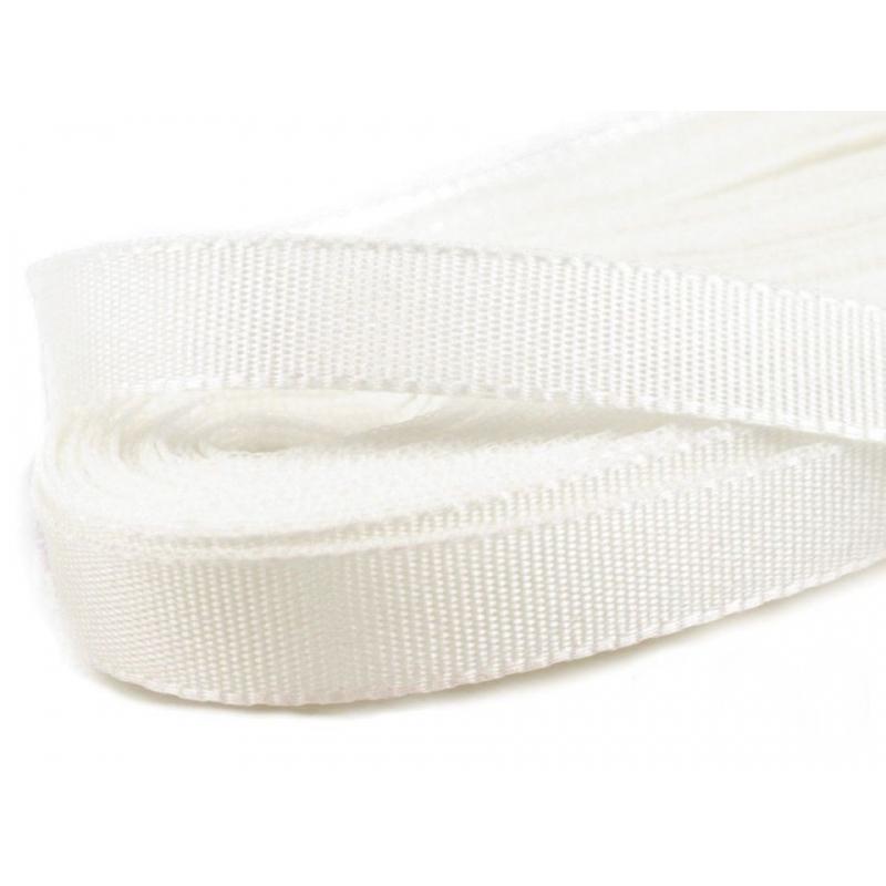 Bílá stuha taftová šíře 6 mm