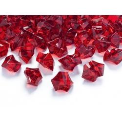 Červené akrylové krystalky s dírkou