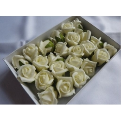 Růžička pěnová samolepící Ø 2 cm - bílá