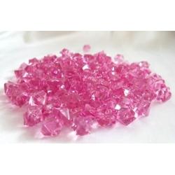 Růžové akrylové krystalky