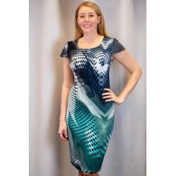 Pouzdrové šaty Nora s barevným vzorem