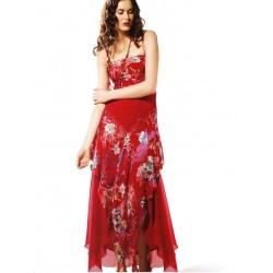 Dlouhé červené šaty FLO