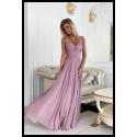 Dlouhé fialové šaty MIA