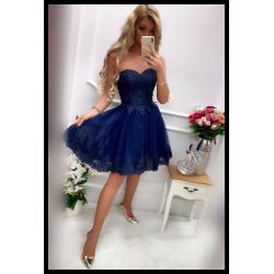 Tmavě modré šaty Victoria