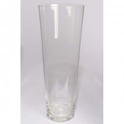 Váza skleněná válec - kónická 60cm