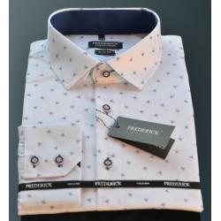 Bílá se vzorem pánská košile Čenda