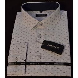 Pánská košile bílá s jemným vzorem Jaroslav