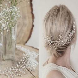 Svatební hřeben do vlasů s perlami