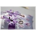 Svatební polštářek na prstýnky - bílý