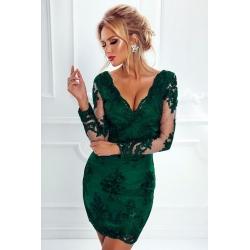 Smaragdově zelené šaty Ela