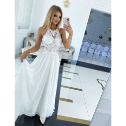 Dlouhé bílé šaty MERCEDES