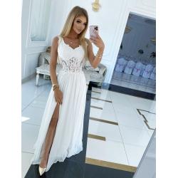 Dlouhé bílé šaty IRMÍNA