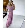 Dlouhé fialové šaty SHARLOTE