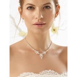 Luxusní svatební souprava s krystaly do V