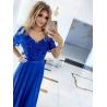 Dlouhé modré šaty Sharlote